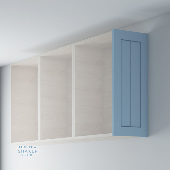 Painted Shaker Kitchen Wall End Panels with Tongue & Groove Panels for IKEA METOD