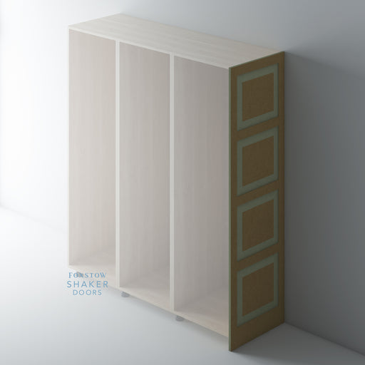 Bare Shaker Raised Panel Wardrobe End Panels for IKEA PAX
