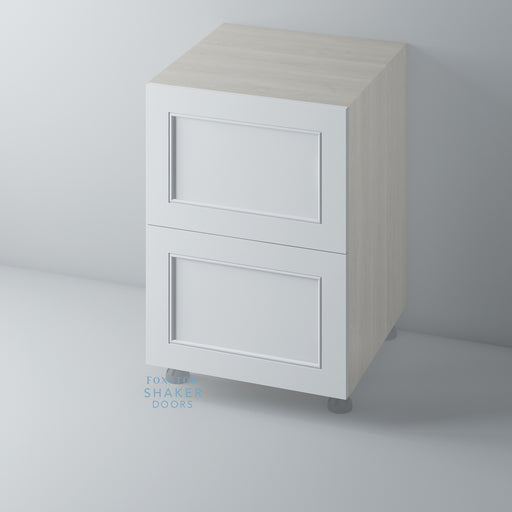 Primed Shaker Kitchen Drawer with Staff Bead Moulding for IKEA METOD