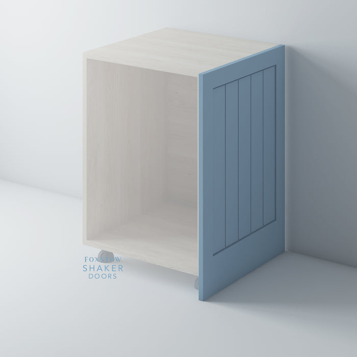 Painted Shaker Kitchen End Panels with Tongue & Groove Panels for IKEA METOD