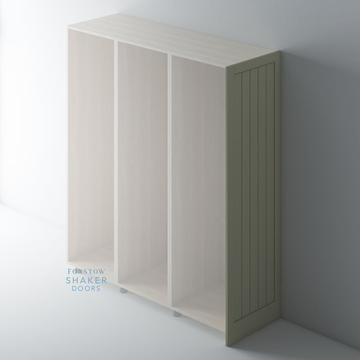 Painted Tall Shaker Kitchen End Panels with Tongue & Groove Panels for IKEA METOD