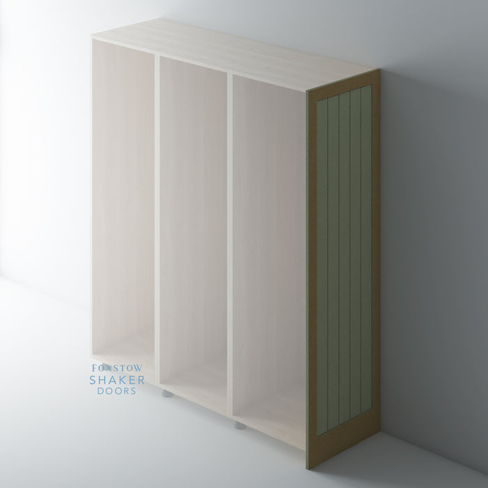 Bare Shaker Tongue & Groove Tall End Panels for IKEA PAX