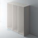 Painted, Tall Flat End Panel with Reed Mouldings