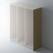 Bare Flat Wardrobe End Panel with Reed Moulding