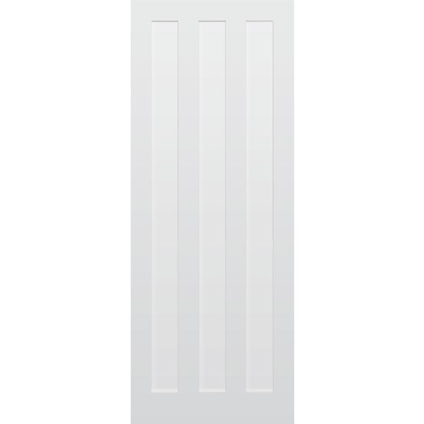 3 Panel Vertical Primed MDF Door