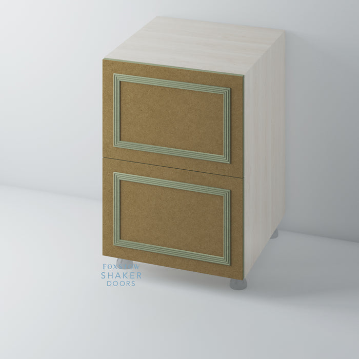 Bare Flat Panel Kitchen Drawer with Reed Moulding for IKEA METOD