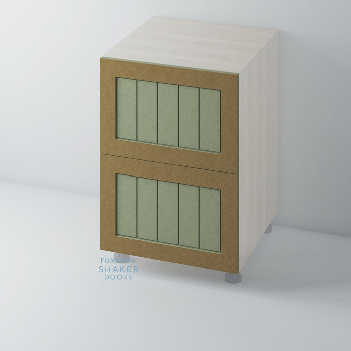 Bare Shaker Kitchen Drawer with Tongue & Groove Panel for IKEA METOD