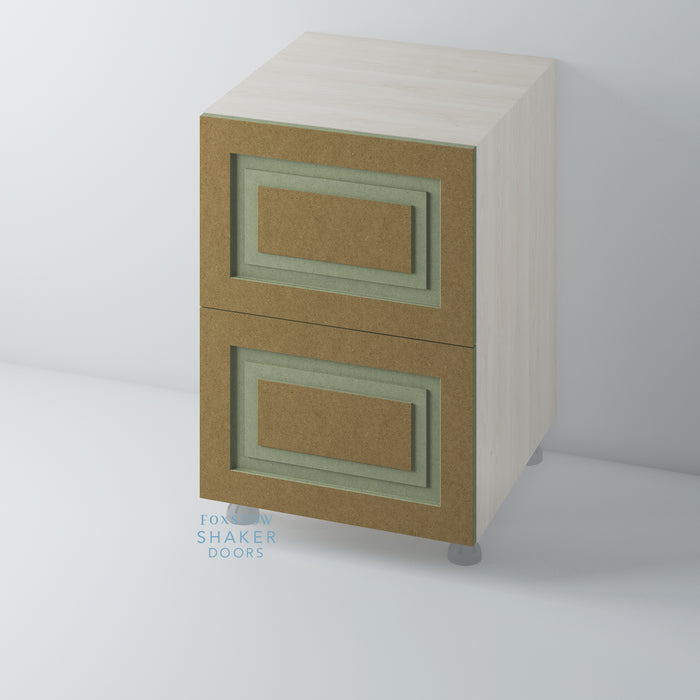 Bare Shaker Style Stepped Panel Kitchen Drawers for IKEA METOD