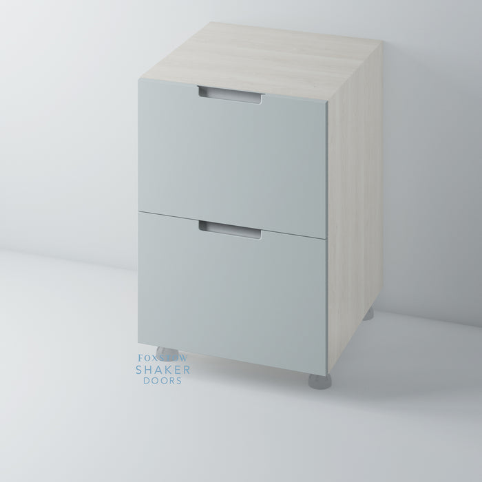 Painted Stop J Groove Kitchen Drawer with Stainless Steel Insert for IKEA METOD