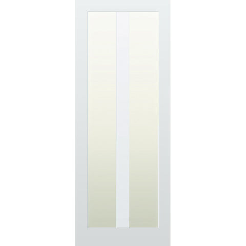 Glazed 2 Vertical Panel Hardwood Shaker Door
