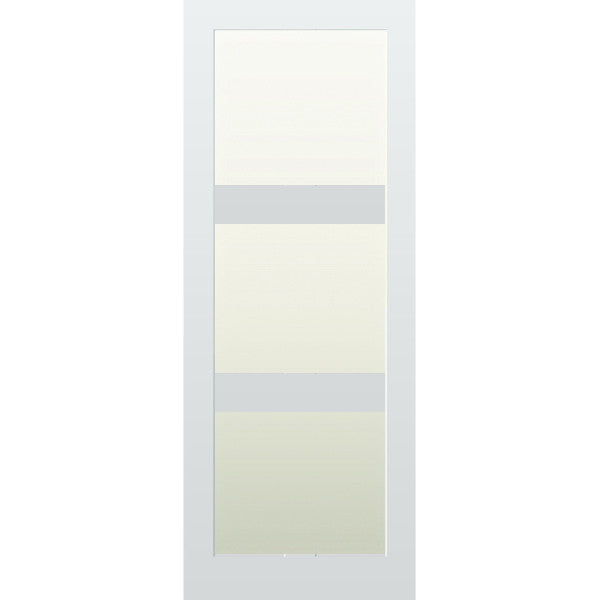 Glazed 3 panel internal shaker door