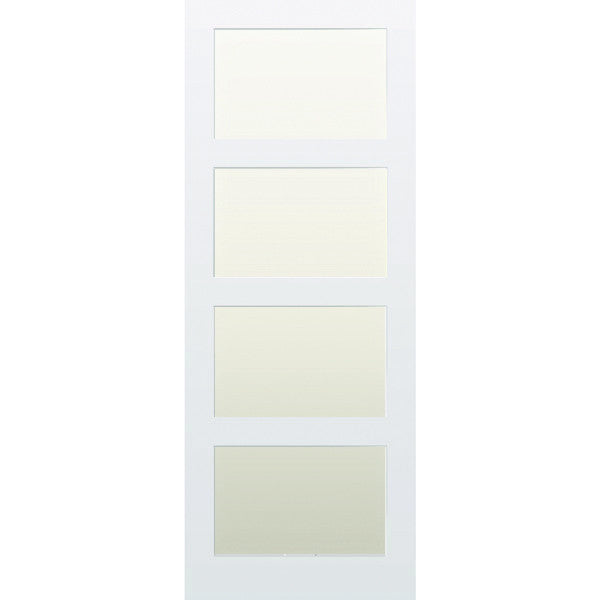 4 panel glazed shaker internal door