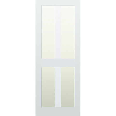 Glazed 4 Vertical Panel Hardwood Shaker Door
