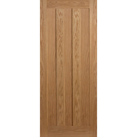 3 Vertical Panel Oak Shaker Door