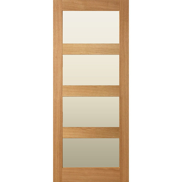 Interior door, internal door, solid oak, 4 panel door, glazed door