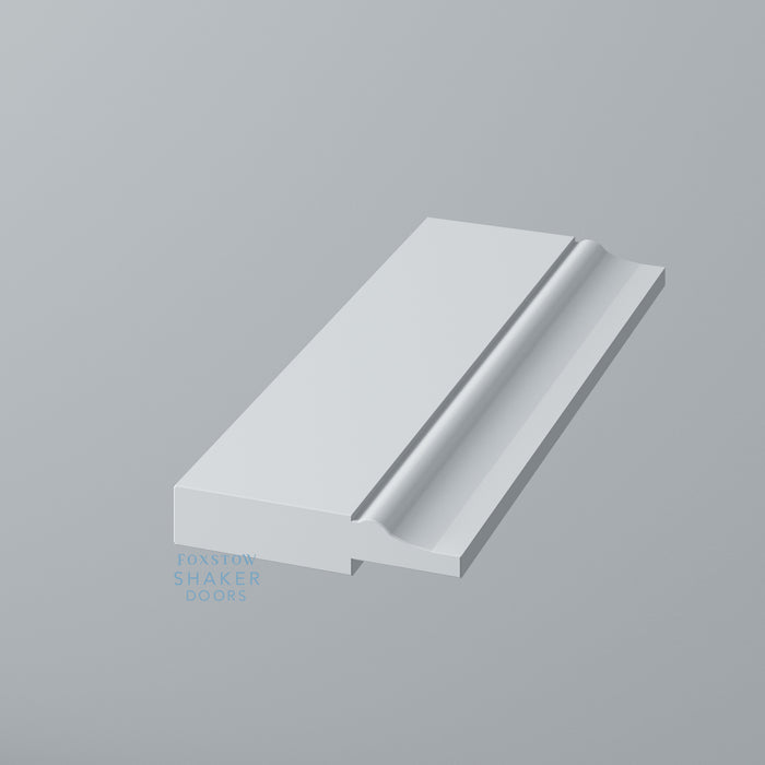 Detail: Primed Shaker Style Tall End Panels with Ogee Mouldings for IKEA PAX