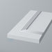 Detail: Primed Flat Tall End Panels with Reed Moulding