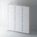 Primed 3 Panel Shaker Wardrobe Door