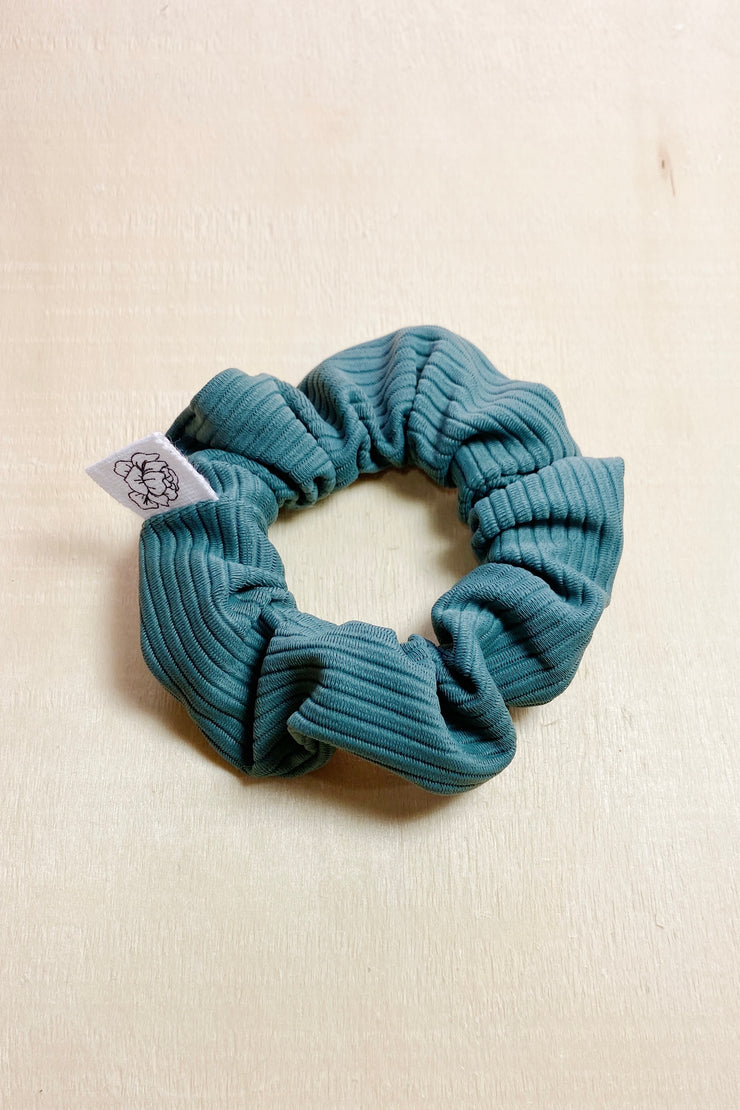 Sage Ribbed Scrunchie