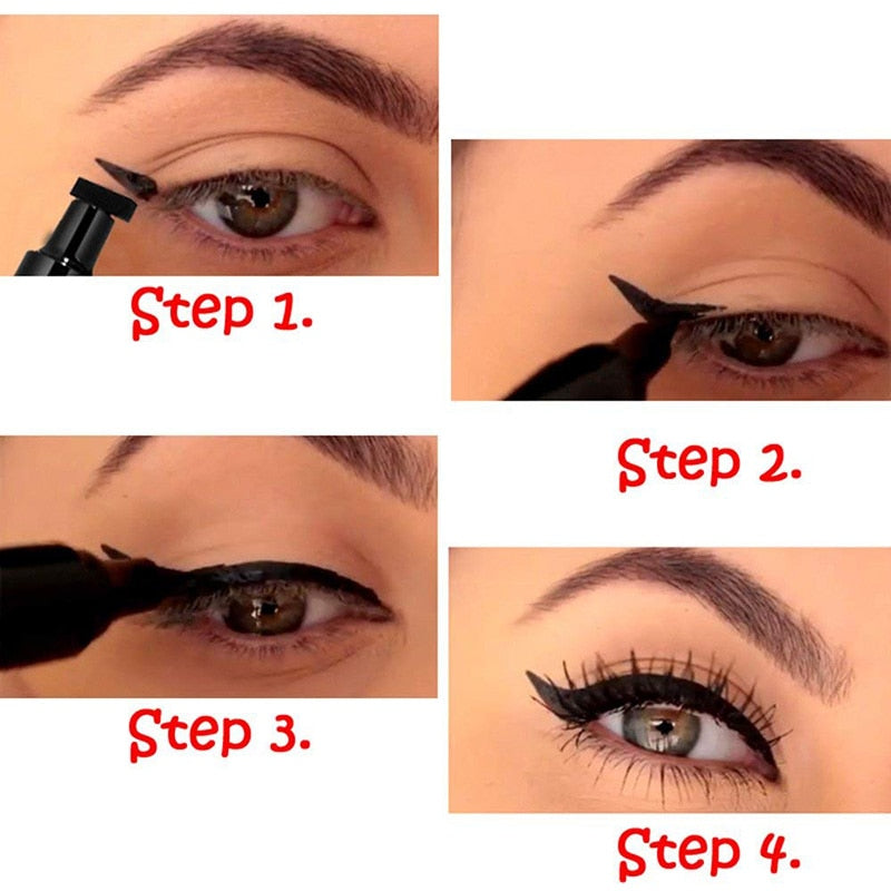 Load Image Into Gallery Viewer 1 Pcs Double Headed Seal Black Eyeliner Triangle