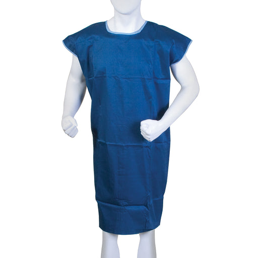 "Bodymed Cloth Gown, 100% Cotton, Hook-And-Loop Closures, 43"" Long, Large"