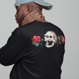 Low-Bit Rose n Skull Sweatshirt