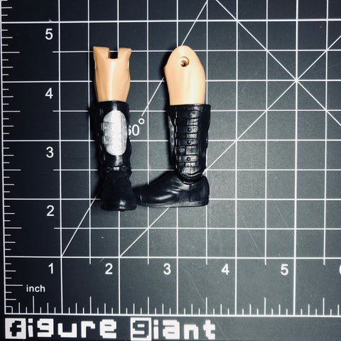 High laceless Boots (Black and Silver with side buckles)