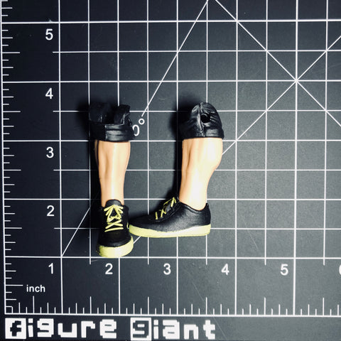 Sneakers (Black with yellow)