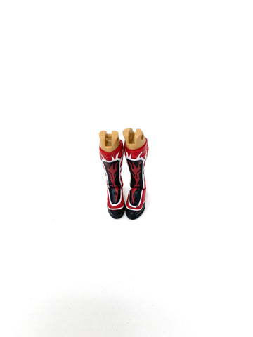 Kickpads Boots (red with whites/red flames)