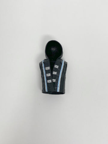 AJ Styles Black with Silver and Blue Vest with Removable Hood