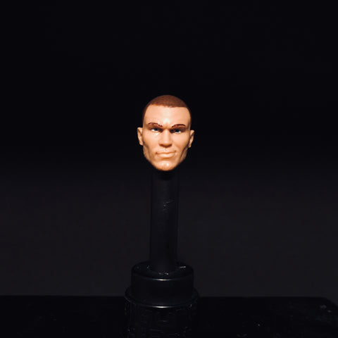 Randy Orton (shaved head with smirk)