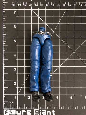 Dark Blue Jeans with silver belt  (Full leg)