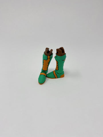 Green and Orange kickpad Boots