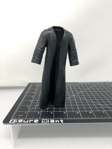 Long black trench jacket
