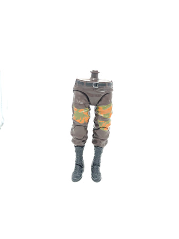 Brown Pants with Orange/Green Camo Patches (XL torso)