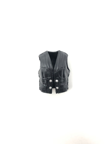 Black Vest with Silver Buttons