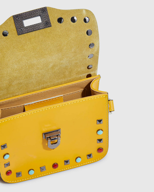 Piumelli Yellow Leather Bag