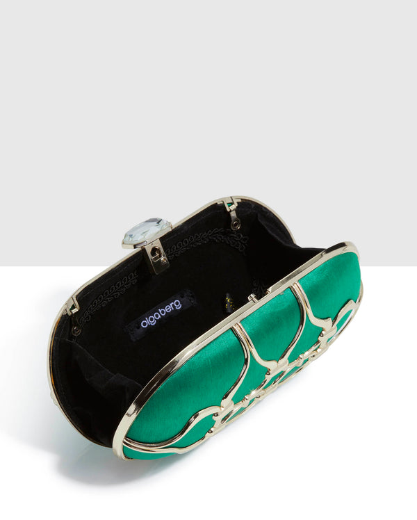 Vintage Emerald Green Clutch