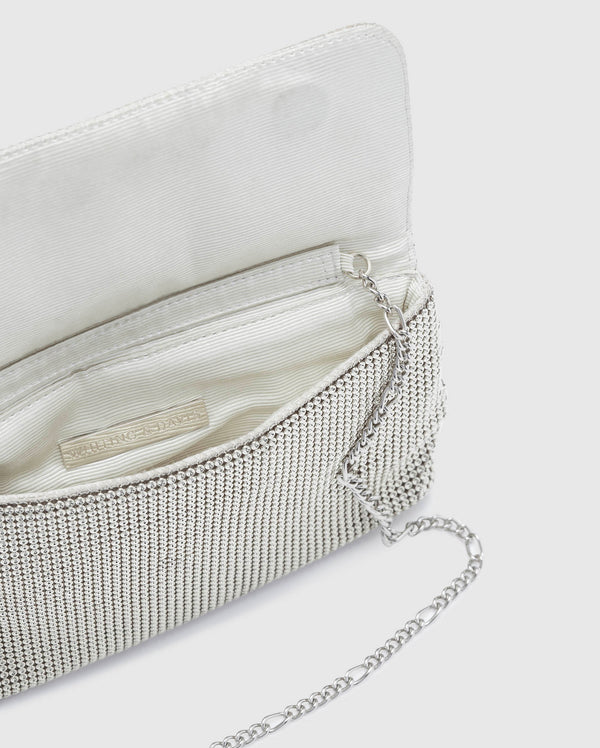 Whiting & Davis Serpents Clutch Silver