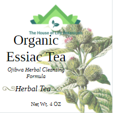 Organic Essiac Tea-Ojibwa Herbal Cleansing Formula (4 oz)