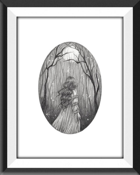 The Forest Fine Art Print- Gothic Fantasy (5x7)