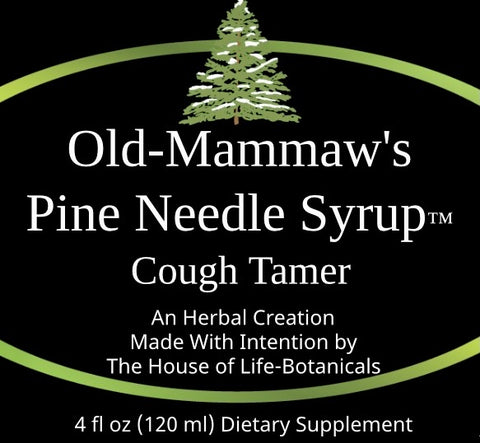 Old-Mammaw's Pine Needle Syrup ™ Cough Tamer (4 fl oz)
