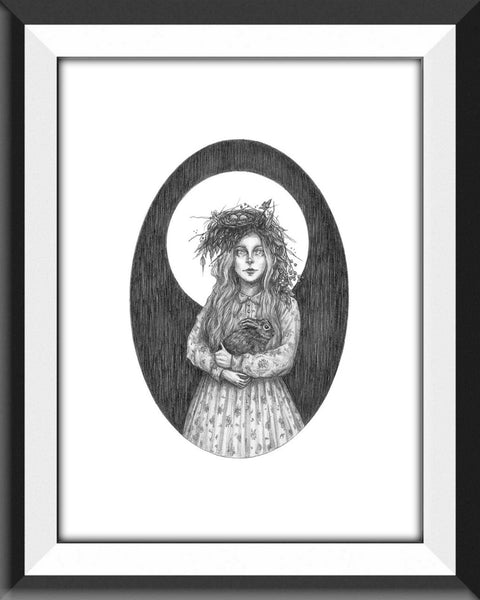 Ostara Fine Art Print- German Goddess of Spring (5x7)