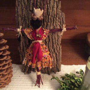 """Oneida Autumn"" Red Twig Dogwood Kinnikinnick Spirit Doll"