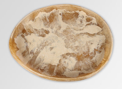 Extra Large Resin Rock Bowl - Sandalwood