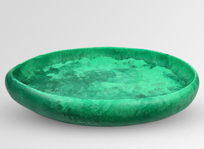 Extra Large Resin Rock Bowl - Leaf