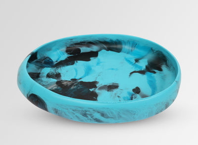 Large Resin Rock Bowl - Dark Turquoise