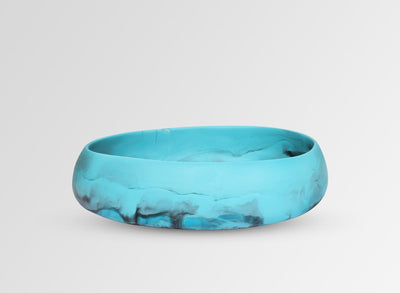 Medium Resin Rock Bowl - Dark Turquoise