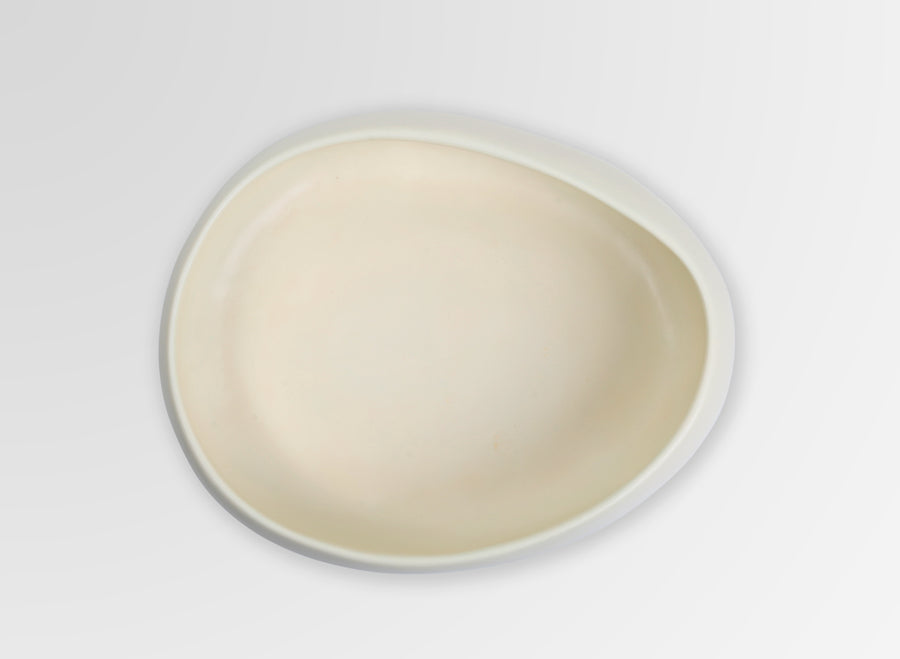 Medium Resin Rock Bowl - Cream