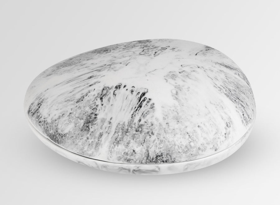 Resin Rock Jewellery Box - White Marble